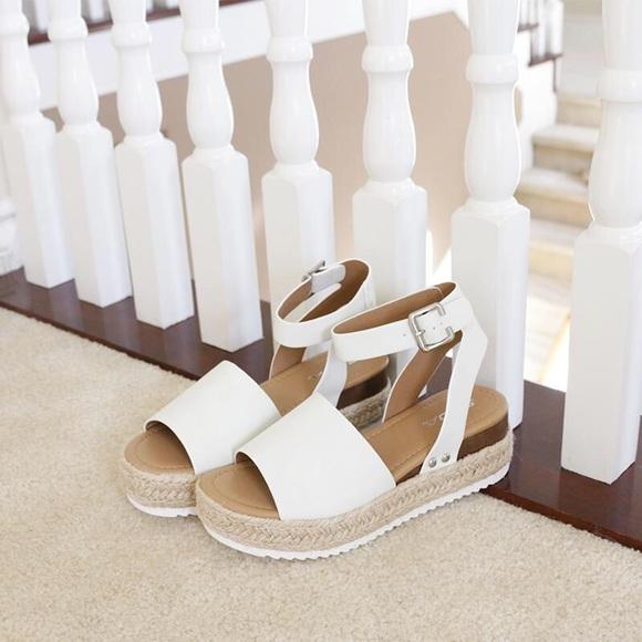 972ec0900575 Topic white ankle strap flatform sandal espadrille